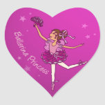 Balllerina cerise pink princess sticker