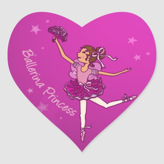 Balllerina cerise pink princess sticker