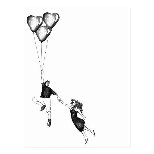 Ballloons and Love Postcard