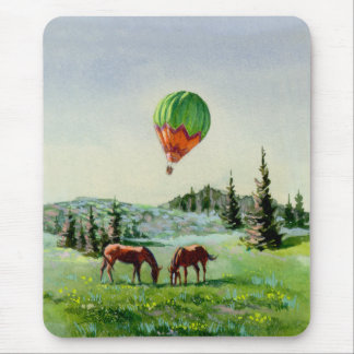 BALLON & HORSES by SHARON SHARPE Mouse Pad