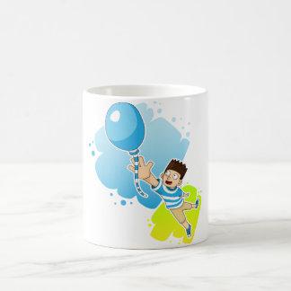 ballon & kid coffee mug