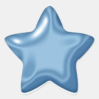 Ballon Star Blue Sticker