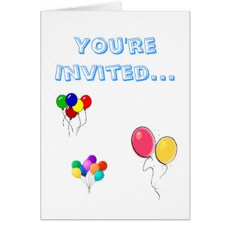 ballons, pretty balloons, balloons5, You're Inv... Card