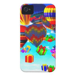 Ballonso de aire caliente colorido Case-Mate iPhone 4 protectores