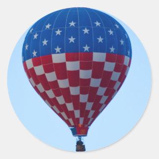Balloon 6822 Ascending Stars & Stripes Classic Round Sticker