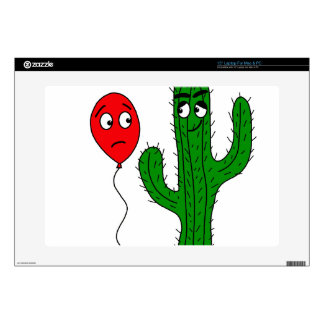 Balloon and cactus decal for laptop