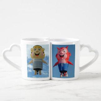 Balloon Angel and Devil Coffee Mug Set