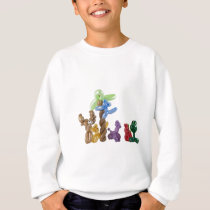 balloon animal group sweatshirt