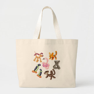 BALLOON ANIMAL PARTY LARGE TOTE BAG