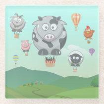 Balloon Animals Glass Coaster