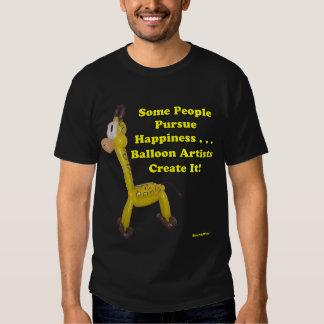 Balloon Artists Create Happiness Balloon Giraffe T-shirt