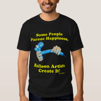 Balloon Artists Create Happiness Hands and Dog T Shirt