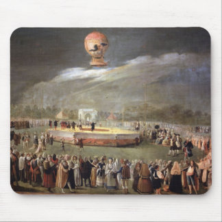 Balloon Ascension in the Gardens of Aranjuez, c.17 Mouse Pad