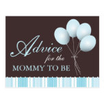 Balloon Baby Shower Advice for the Mommy to Be Post Cards