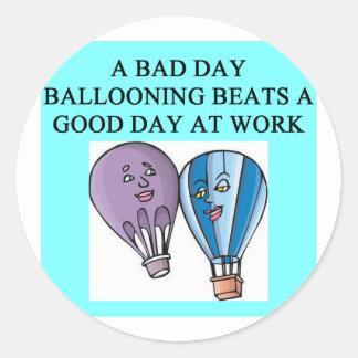 balloon balloonist ballooning classic round sticker