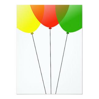 Balloon balloons custom personalize Anniversaries Card