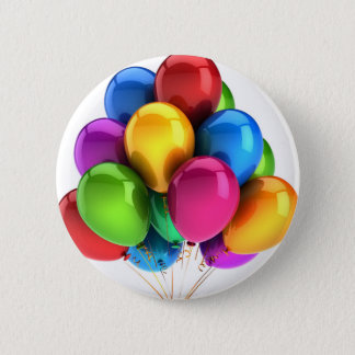 balloon balloons custom personalize Anniversaries Pinback Button
