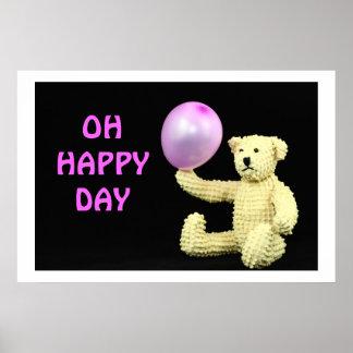 Balloon Bear Happy Day Poster