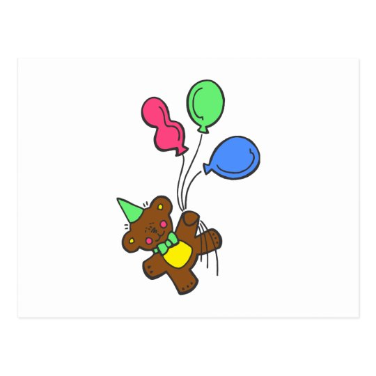 Balloon Bear Postcard