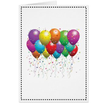 Balloon Birthday Card Customize by CREATIVEforKIDS at Zazzle
