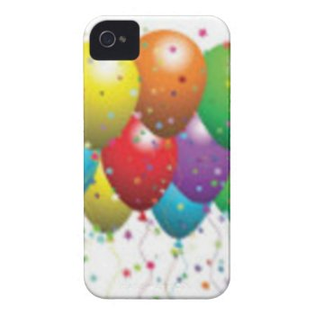 Balloon_birthday_card_customize-r11e61ed9b9074290b Case-mate Iphone 4 Case by CREATIVEPARTYSTUFF at Zazzle