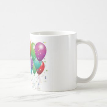 Balloon_birthday_card_customize-r11e61ed9b9074290b Coffee Mug by CREATIVEPARTYSTUFF at Zazzle