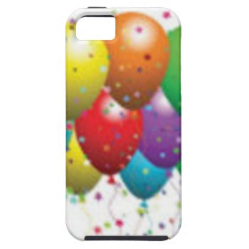 Balloon_birthday_card_customize-r11e61ed9b9074290b Iphone Se/5/5s Case by CREATIVEPARTYSTUFF at Zazzle