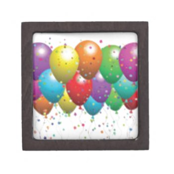 Balloon_birthday_card_customize-r11e61ed9b9074290b Keepsake Box by CREATIVEPARTYSTUFF at Zazzle