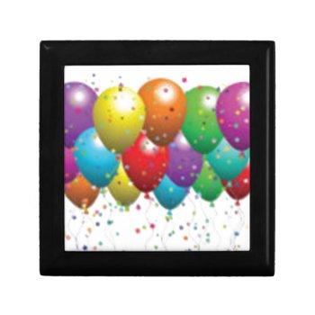 Balloon_birthday_card_customize-r11e61ed9b9074290b Keepsake Box by CREATIVEPARTYSTUFF at Zazzle