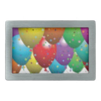 Balloon_birthday_card_customize-r11e61ed9b9074290b Rectangular Belt Buckle by CREATIVEPARTYSTUFF at Zazzle
