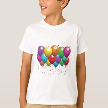 Balloon_birthday_card_customize-r11e61ed9b9074290b T-shirt by CREATIVEPARTYSTUFF at Zazzle