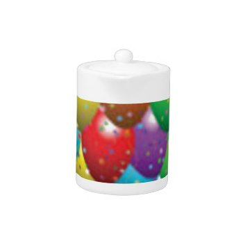 Balloon_birthday_card_customize-r11e61ed9b9074290b Teapot by CREATIVEPARTYSTUFF at Zazzle