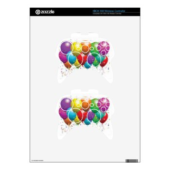 Balloon_birthday_card_customize-r11e61ed9b9074290b Xbox 360 Controller Decal by CREATIVEPARTYSTUFF at Zazzle