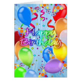 Balloon Birthday Card - Happy Birthday Balloons