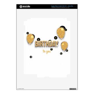 balloon birthday design decals for iPad 3