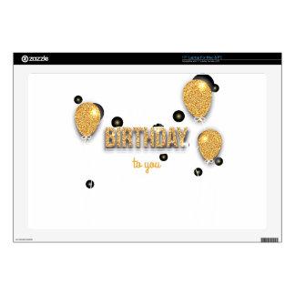 balloon birthday design laptop decal
