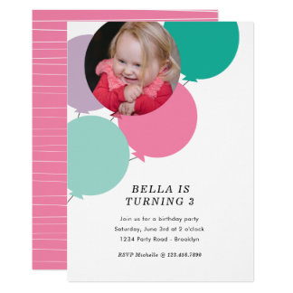 Balloon Birthday Party Invite
