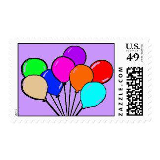 Balloon Birthday Party Postage Stamp