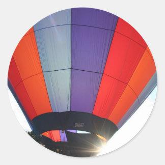 Balloon Blue Sunburst! XLTA Classic Round Sticker