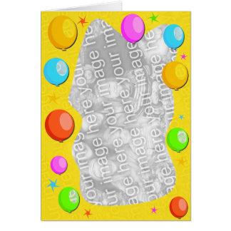 balloon border card