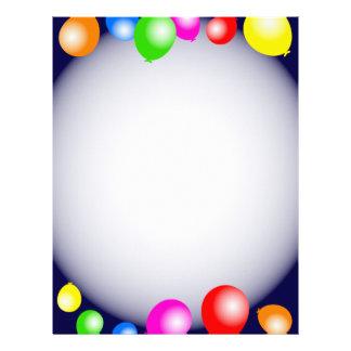 Balloon Border Letterhead