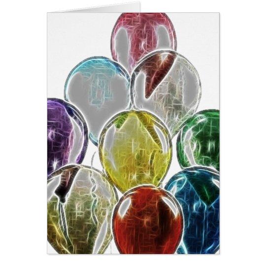 Balloon Bouquet Fractal Card