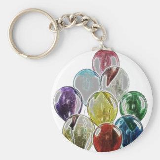 Balloon Bouquet Fractal Basic Round Button Keychain