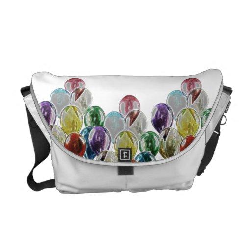 Balloon Bouquet Fractal Messenger Bag
