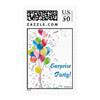 Balloon Bouquet Postage Stamp