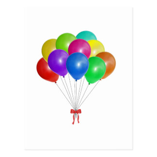 Balloon Bouquet Postcard