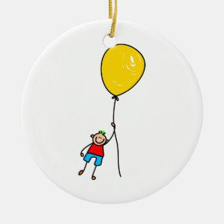 Balloon Boy Ceramic Ornament