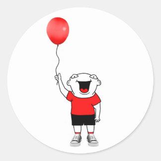 Balloon Boy Classic Round Sticker