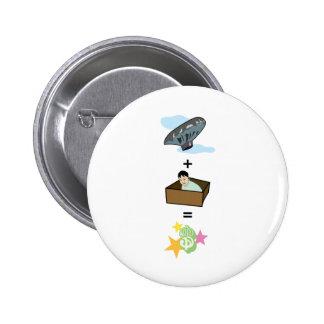 Balloon + Boy Hiding in Box = $$ Stardom $$ Pinback Button