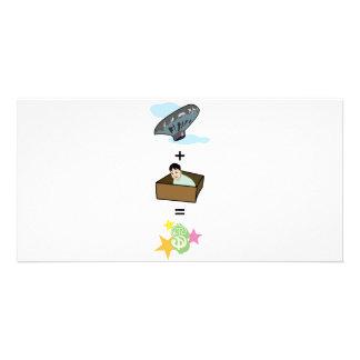 Balloon + Boy Hiding in Box = $$ Stardom $$ Card